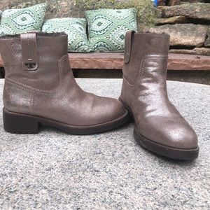 Tory Burch Wayland pewter pull on boots size 7